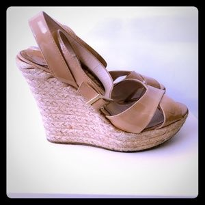 Jimmy Choo Nude Phyllis Wedges